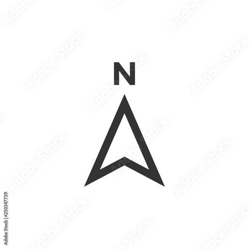 Compass icon design template vector isolated Fototapeta