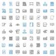 textbook icons set