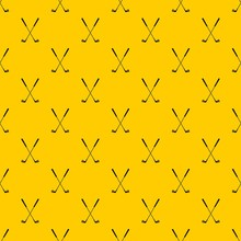 Two Golf Clubs Pattern Seamless Vector Repeat Geometric Yellow For Any Design