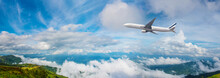 Panorama Photo An Airplane Fly...