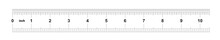 Ruler 10 Inches Imperial. Ruler 10 Inches Metric. Precise Measuring Tool. Calibration Grid.