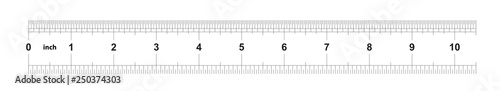 Fotografie, Obraz Ruler 10 inches imperial