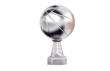 Front View Of Basketball Silve...