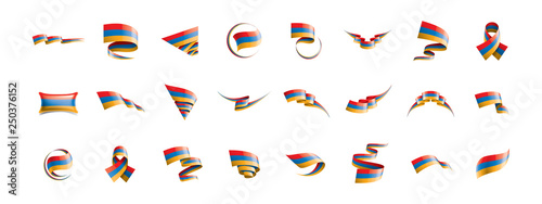 Fototapeta Armenia flag, vector illustration on a white background obraz