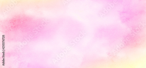 Pinturas sobre lienzo  Retro soft pastel pink watercolour background painted on white paper texture