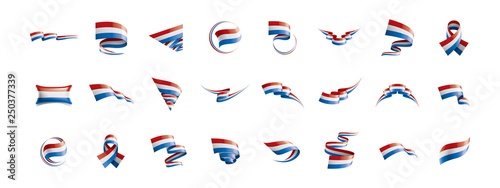 Obraz Netherlands flag, vector illustration on a white background - fototapety do salonu