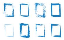 Rahmenset Blau Handgemalt Als Hintergrund