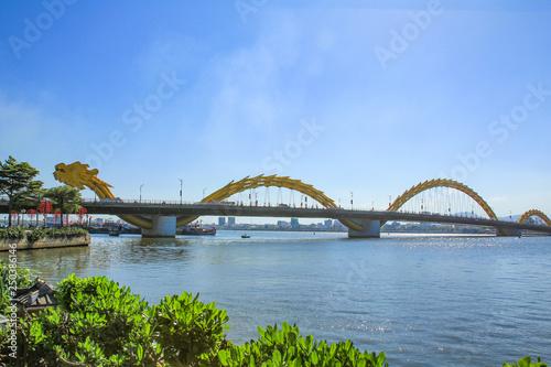 Poster Océanie Dragon Bridge on Han River ,Da Nang ,Vietnam.