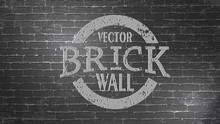 Realistic Light Brown Brick Wall Background. Distressed Overlay Texture Of Old Brickwork. Vintage Style With Detail Grunge.Texture For Template, Layout, Poster, Fabric And Different Print Production.