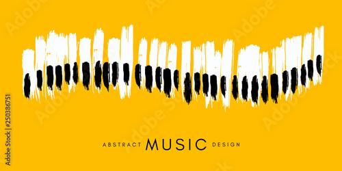 Tableau sur Toile Piano concert poster