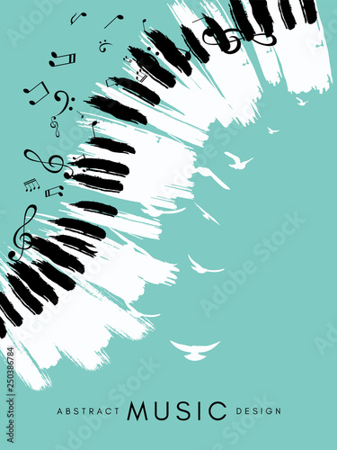 Canvas Print Piano concert poster