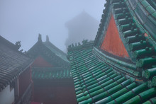 Green Roof Of A Old Chinese Wu...