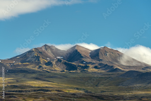 Mountain range in the vastness of Iceland Canvas Print
