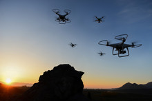 Drone With Spying, Danger And Attack