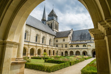 Fontevraud Abbey Court And Gardens In France