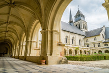 Fontevraud Abbey Courtyard And...