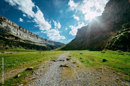 View of Circo de Soaso, Ordesa National Park, Aragon. Pyrenees