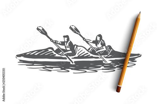 Valokuva  Kayak, sport, water, paddle, canoe concept