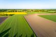 canvas print picture - Landschaft in Deutschland aus der Luft