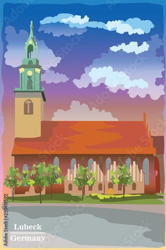 Staande foto Kasteel Colorful Church in Berlin