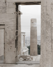 Acropolis View Temple In Athens, Greece