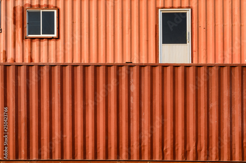 Canvas Print Surface orange stacked container warehouse