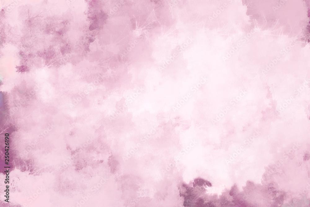 Fototapety, obrazy: Rosa Wasserfarben Bild