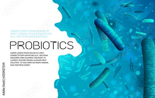 Probiotics vector background Canvas-taulu