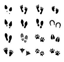 Footprint Vector Icon Set. Foo...