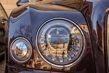 Bentley Headlights In Sunshine