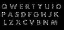Alphabet With Diamonds