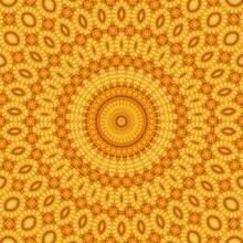 Pattern Yellow Geometric Kalei...