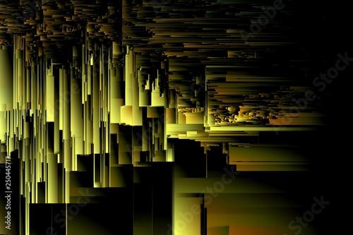 Obraz na plátně  texture line distorted pixel sorting. art effects.