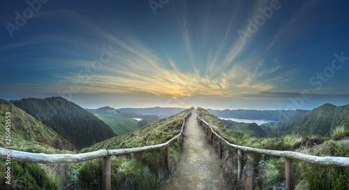 Fotografia  Mountain landscape Ponta Delgada island, Azores Portugal
