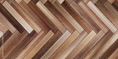 Obraz Seamless wood parquet texture horizontal herringbone various - fototapety do salonu