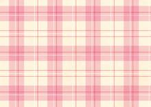薄いピンクのチェック柄