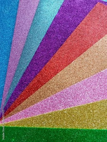Photo  abanico de colores brillantes