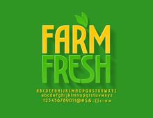 Vector Green Emblem Farm Fresh...