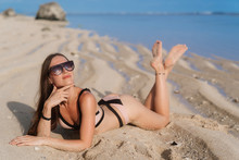 Beautiful Happy Model In Swims...