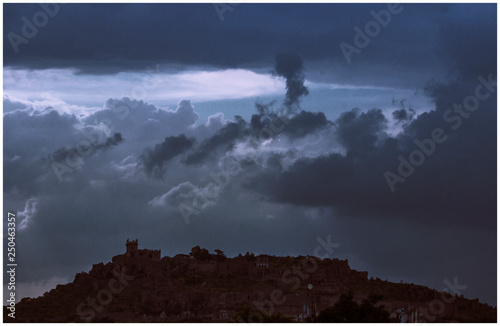 Photo  Golconda with clouds