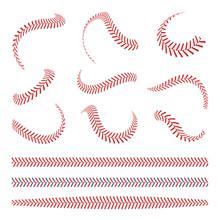 Baseball Laces Set. Baseball S...