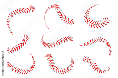 Baseball laces set Canvas Print