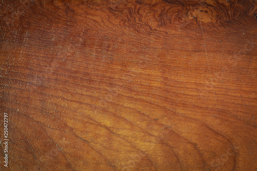 Fotografía  top view of table wood rough texture background with lacquer glossy