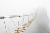 Fototapeta Fototapety pomosty - Hanging bridge in fog