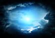 Leinwandbild Motiv Cloudscape with a Light