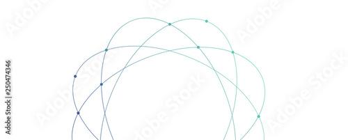 Obraz orbita, hi tech, sfondo, internet, comunicazione - fototapety do salonu