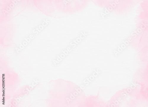 Fotografia  淡い水彩の背景:ピンク