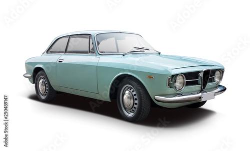 Foto op Aluminium Vintage cars Classic Italian sport car isolated on white