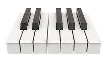 7 Piano Key, One Octave. Music...