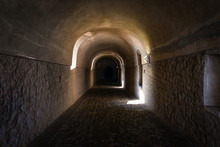 Old Tunnel Of Stone And Concre...